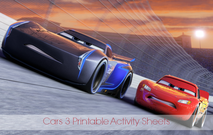 Disney Pixar Cars 3 Printable Activity Sheets