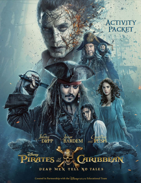 Pirates of the Caribbean: Dead Men Tell No Tales Activity Sheets. More at CleverlyMe.com