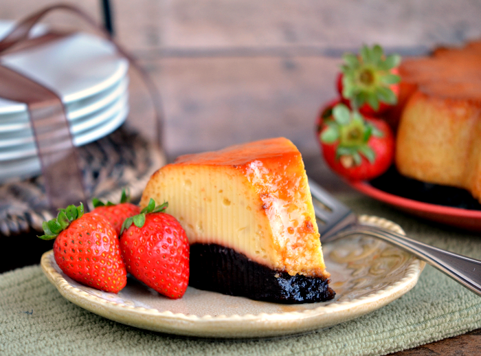 Pressure Cooker Chocoflan Recipe