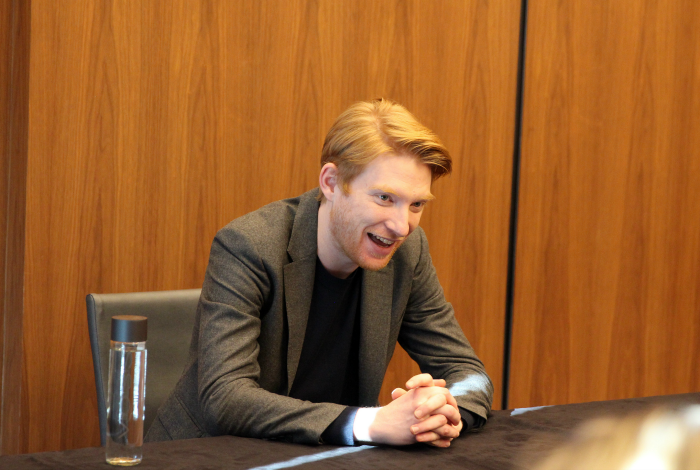 """Exclusive Interview with Domhnall Gleeson """"General Hux"""" In Star Wars: The Last Jedi. More at CleverlyMe.com"""