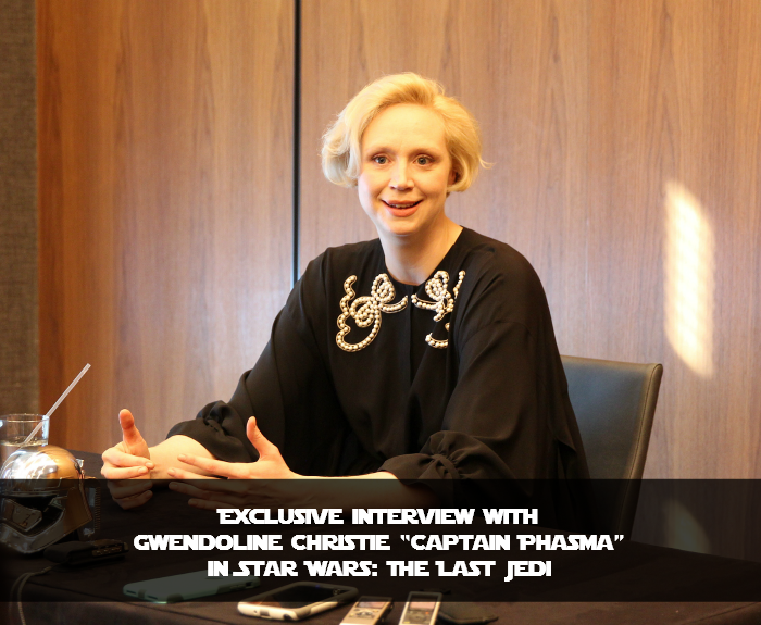 "Exclusive Interview with Gwendoline Christie ""Captain Phasma"" In Star Wars: The Last Jedi"