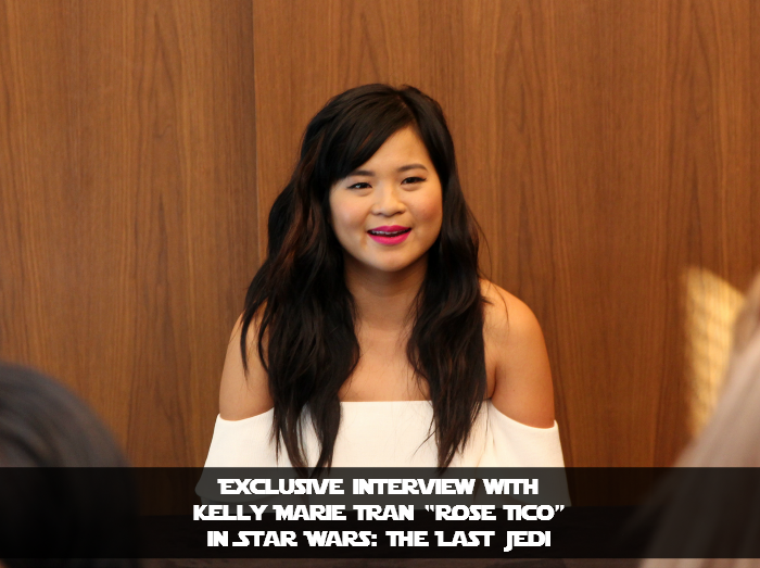 "Exclusive Interview with Kelly Marie Tran ""Rose Tico"" in Star Wars: The Last Jedi"