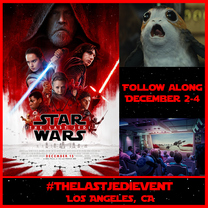 Star Wars: The Last Jedi Press Event Happening December 2-4