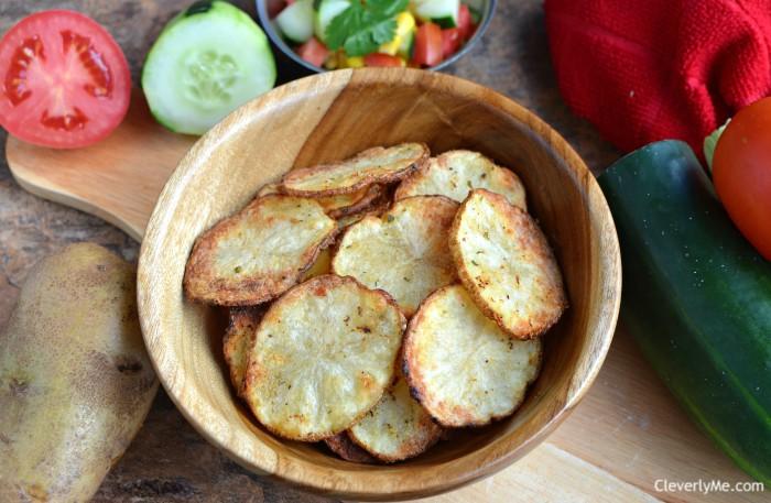 Easy Air Fryer Ranch Potato Chips Recipe