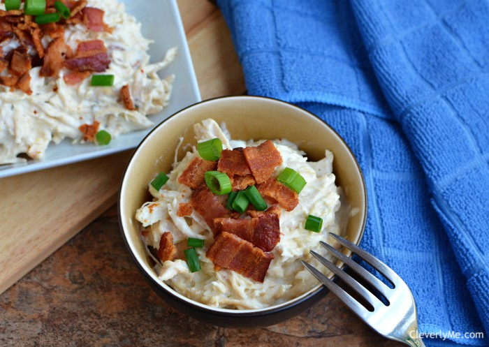 Raise your hand if you are a fan of ranch, chicken, and bacon! We are and that's why we are huge fans of this easy pressure cooker keto crack chicken recipe. More at CleverlyMe.com