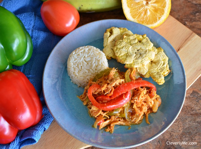 Make this super delicious and easy to prepare Nicaraguan-Inspired Pressure Cooker Pollo Desmenuzado or Chicken Ropa Vieja (Shredded Chicken) any weekday or weekend in under 30 mins. Find the recipe at CleverlyMe.com