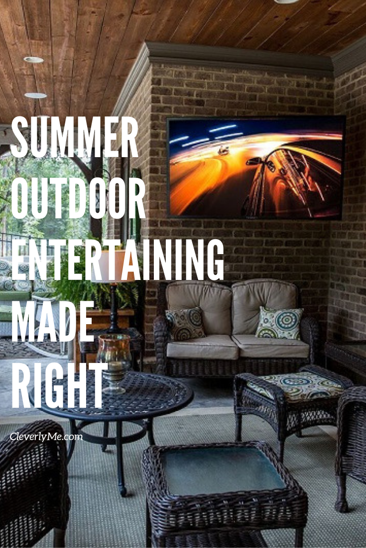Summer break is upon us, now is the time to get your summer outdoor entertaining made right with these simple tips! More at CleverlyMe.com