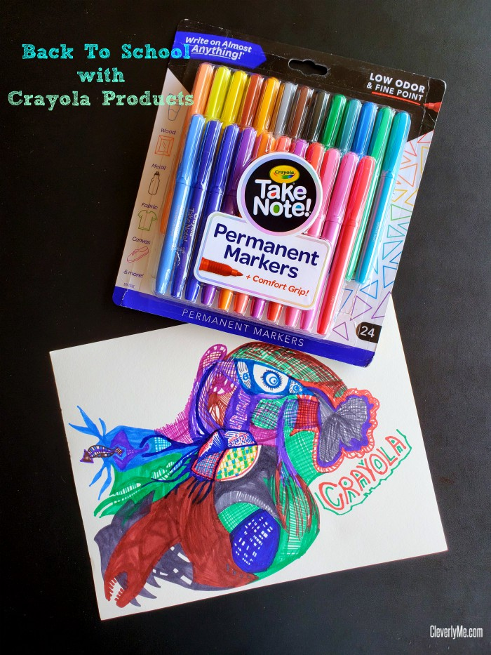 It is that time of the year when we ready for Back To School with Crayola Products! This year, we are featuring 2-in-1 Dual Ended and Erasable Highlighters, Washable Felt Tip and Gel Pens, Permanent Markers and Dry Erase Markers from the Crayola Take Note! Collection. Learn more at CleverlyMe.com