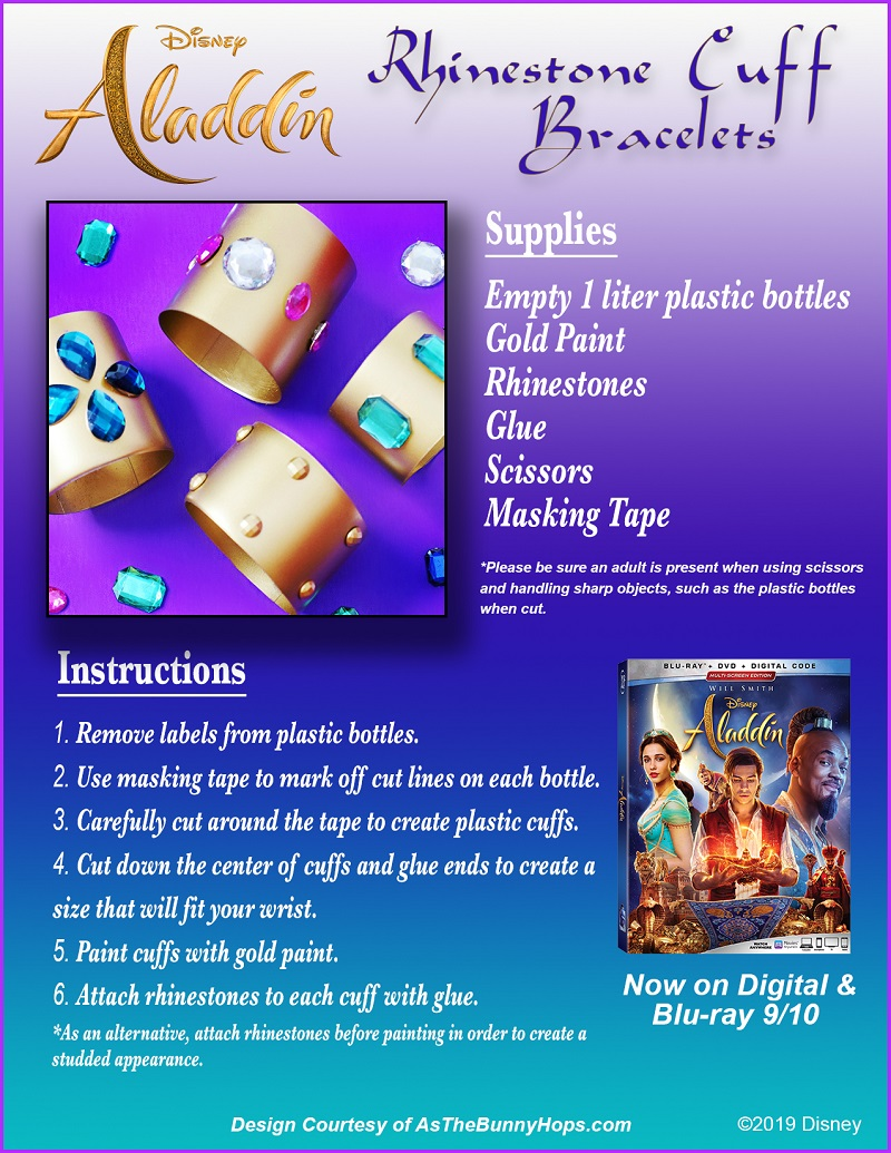 Disney's Aladdin (live-action) and Aladdin Signature Collection Now Available on 4K Ultra HD, Blu-Ray, DVD & Digital. Head on over to CleverlyMe.com to find some fun Aladdin-Inspired crafts, activites, recipes and more!