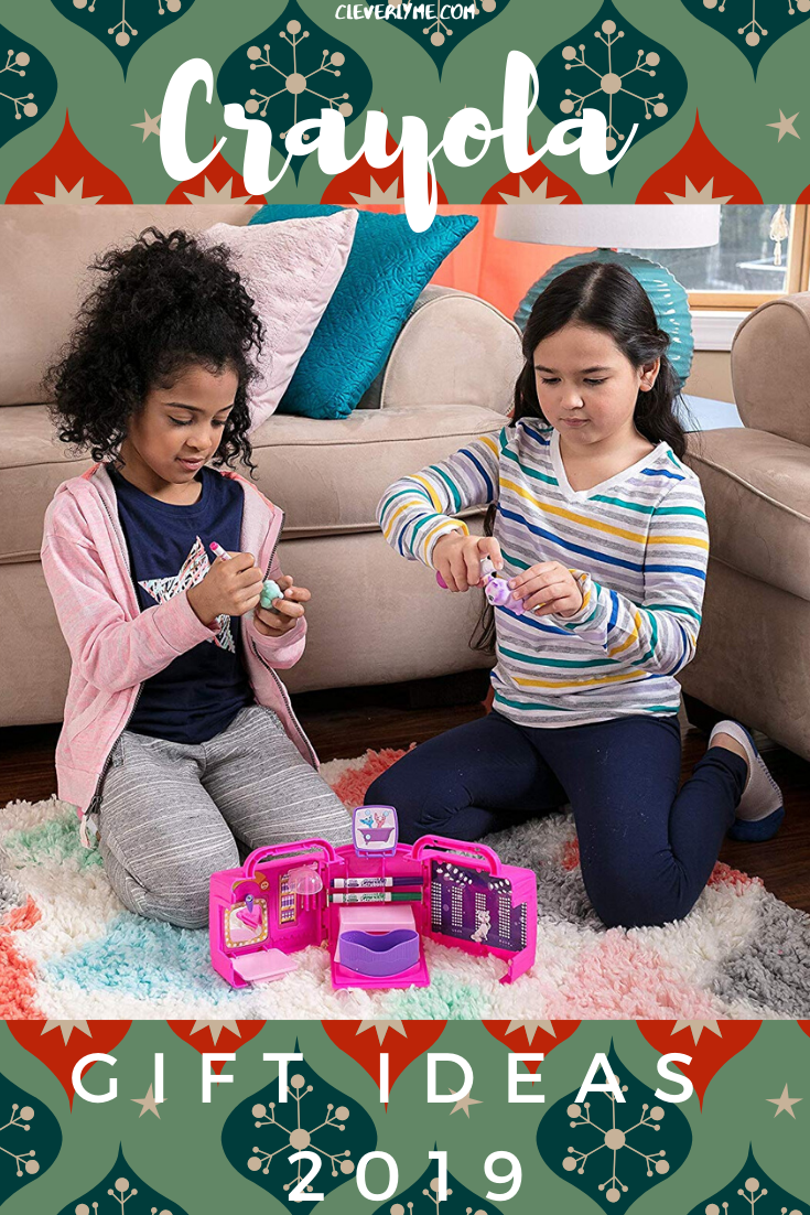Looking for amazing colorful Crayola gift ideas? Head on over to CleverlyMe.com to find several gift ideas that will surely satisfy your little Crayola fans! #HolidayGiftGuide #HolidayGiftGuide2019