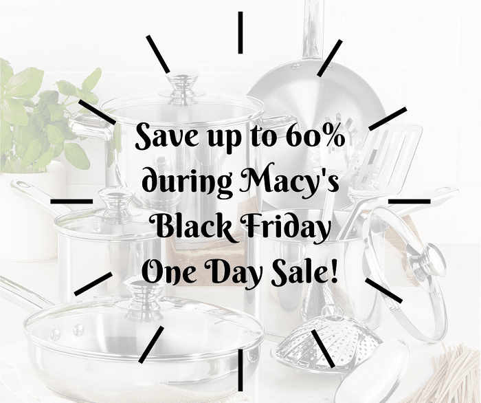 Get your shopping done this weekend and save up to 60% during Macy's Black Friday One Day Sale and get $30 on orders of $100+ More at CleverlyMe.com
