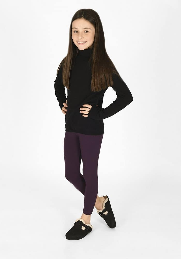 Love Leggings Acai Purple Full-Length Children's Leggings part of the Valentine's Day Gift Guide found at CleverlyMe.com