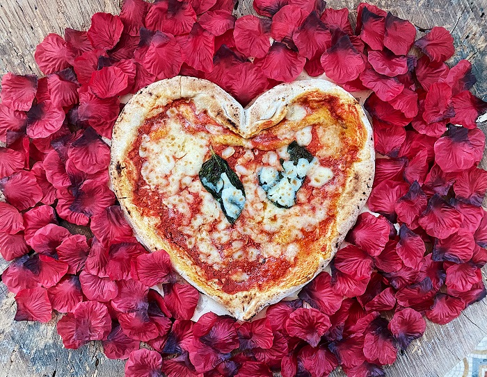 Authentic Neapolitan heart-shaped Pizza by Talia di Napoli park of the Valentine's Day Gift Guide at CleverlyMe.com